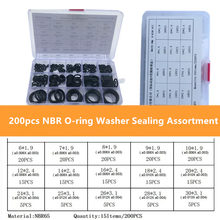 200 шт/компл резиновое уплотнительное кольцо nbr уплотнительные
