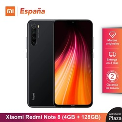 Xiaomi Redmi Note 8 (128GB ROM  4GB RAM  Snapdragon™665  Android  Nuevo  Móvil) [Teléfono Móvil Versión Global para España]