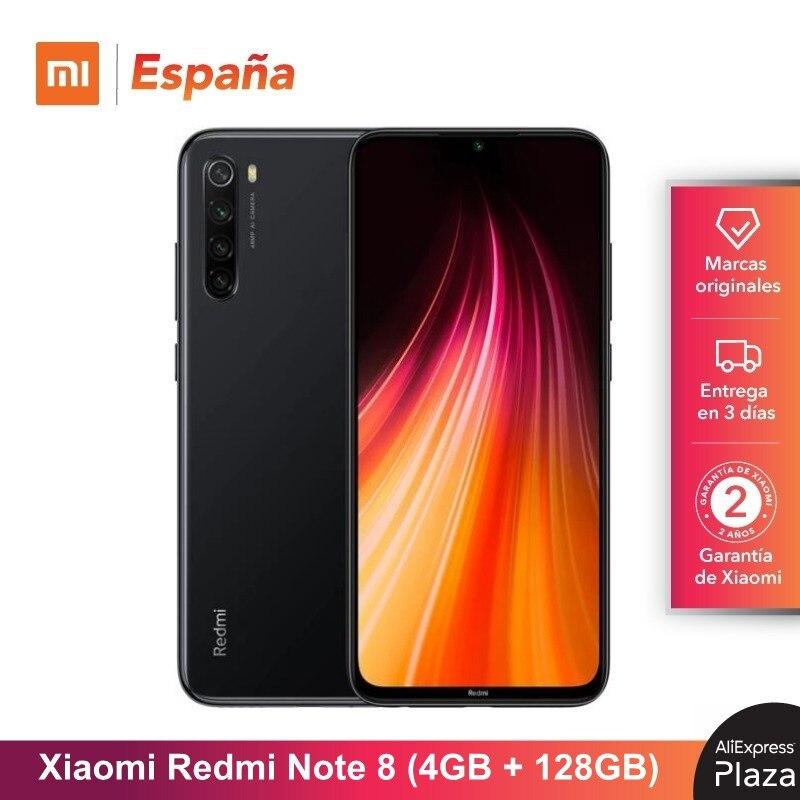 Xiaomi Redmi Note 8 (128GB ROM, 4GB RAM, Snapdragon™ 665, Android, Nuevo, Móvil) [Teléfono Móvil Versión Global para España] Versión Global Redmi Note 8 64GB ROM 4GB RAM, ROM Oficial (Nuevo y Sellado) note8 64gb Teléfono Móvil