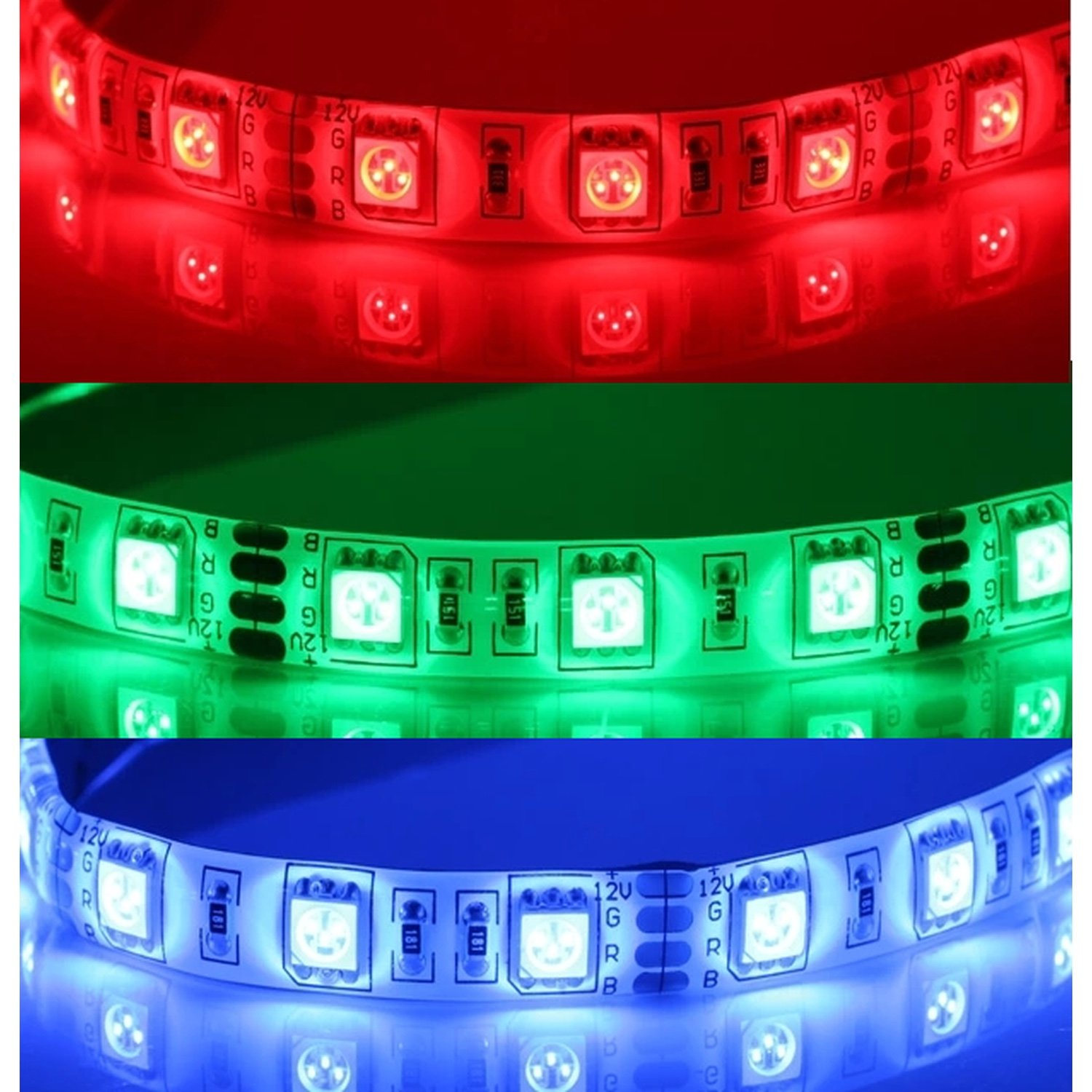 LED Strip 12V DC SMD5050 60LED/metre (5 Poke) 14W/Poke Color RGB DIMMABLE