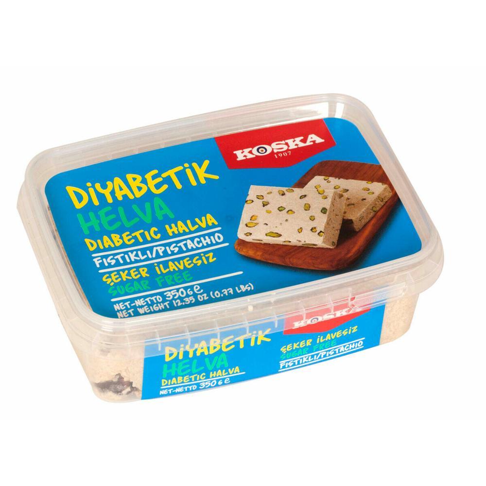 Diabetic Halva Koska Pistachio Light Halva 350 G Delicious Sugar Free Tahini Halva Natural And Healthy Made In Turkey