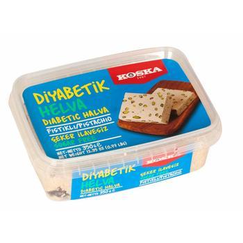 Diabetic Halva Koska Pistachio Light Halva 350 g Delicious Sugar Free Tahini Halva Natural and Healthy Made in Turkey недорого