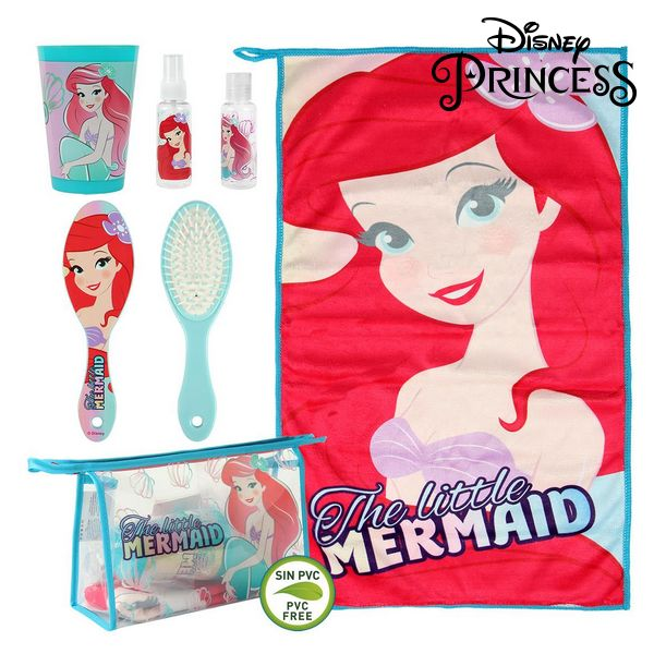 Child's Toiletries Travel Set Princesses Disney 72575 (6 Pcs) Turquoise Red