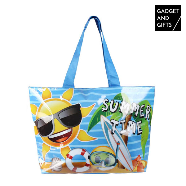 Gadget And Gifts Summer Time Emojis Beach Bag