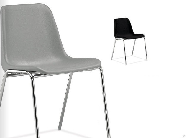 Chair ENCLOSURE Polypropylene Gray