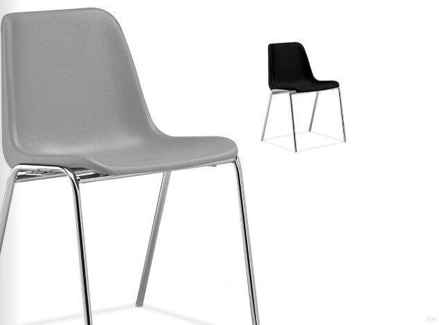 Chair ENCLOSURE Polypropylene Gray