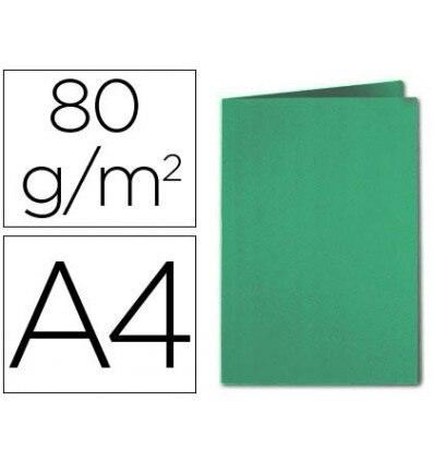 SUBFOLDER CARDBOARD EXACOMPTA DIN A4 DARK GREEN 80GSM 100 Pcs