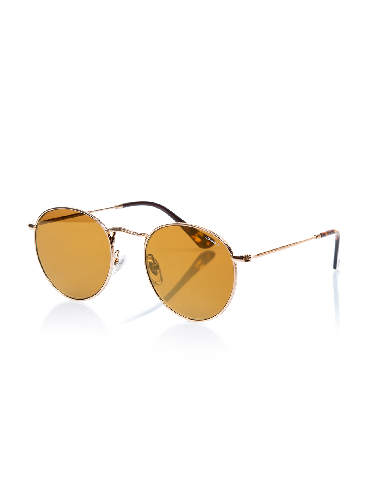 Unisex sunglasses os 2485 04 metal gold crystal round round 50-22-145 osse