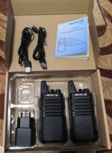 Walkie-talkie came in about 12 days. Brought a courier, calling first. Work well, the soun