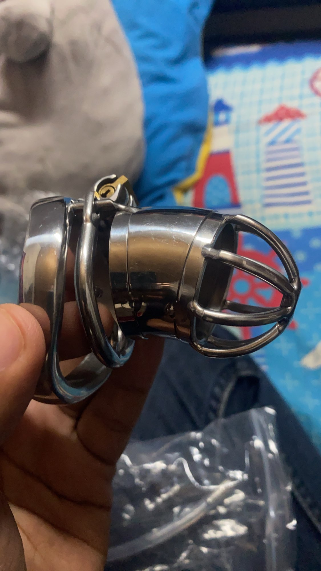 304 Stainless Steel Chastity Device With Urethral Sounds Catheter And Spike Ring S/L Size Cock Cage Choose Male Chastity Belt photo review