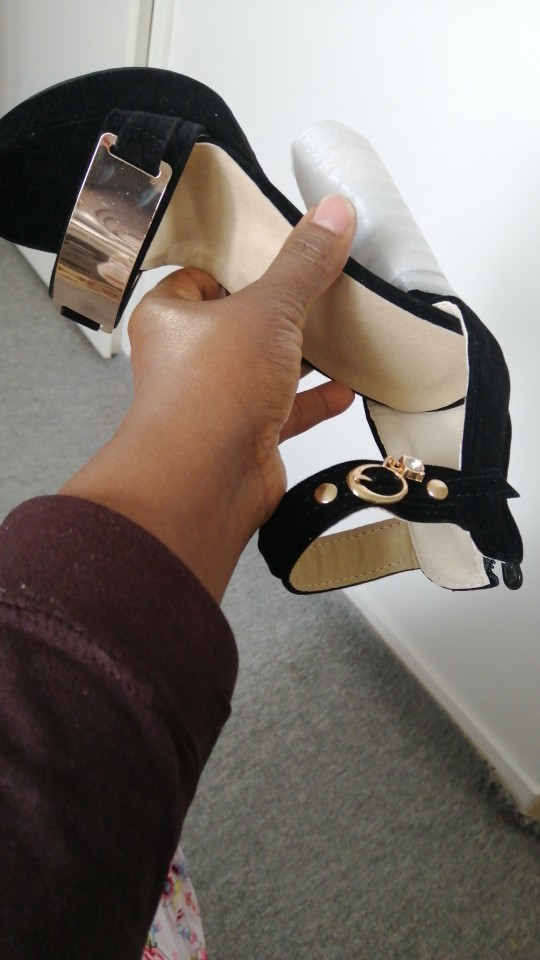 Suede Thick High  Heels photo review