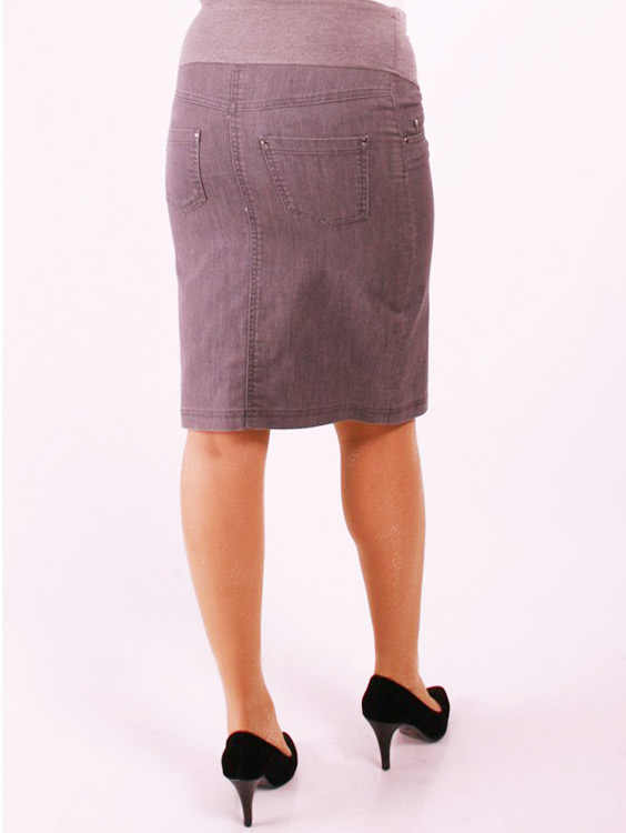 Mutterschaft Kleidung Ohne Strap Mini jeans Rock