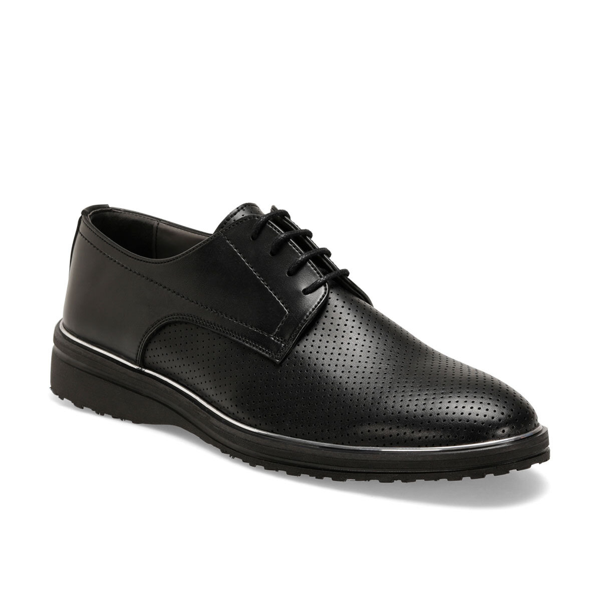 FLO 313-1 Black Men Dress Shoes-Styles