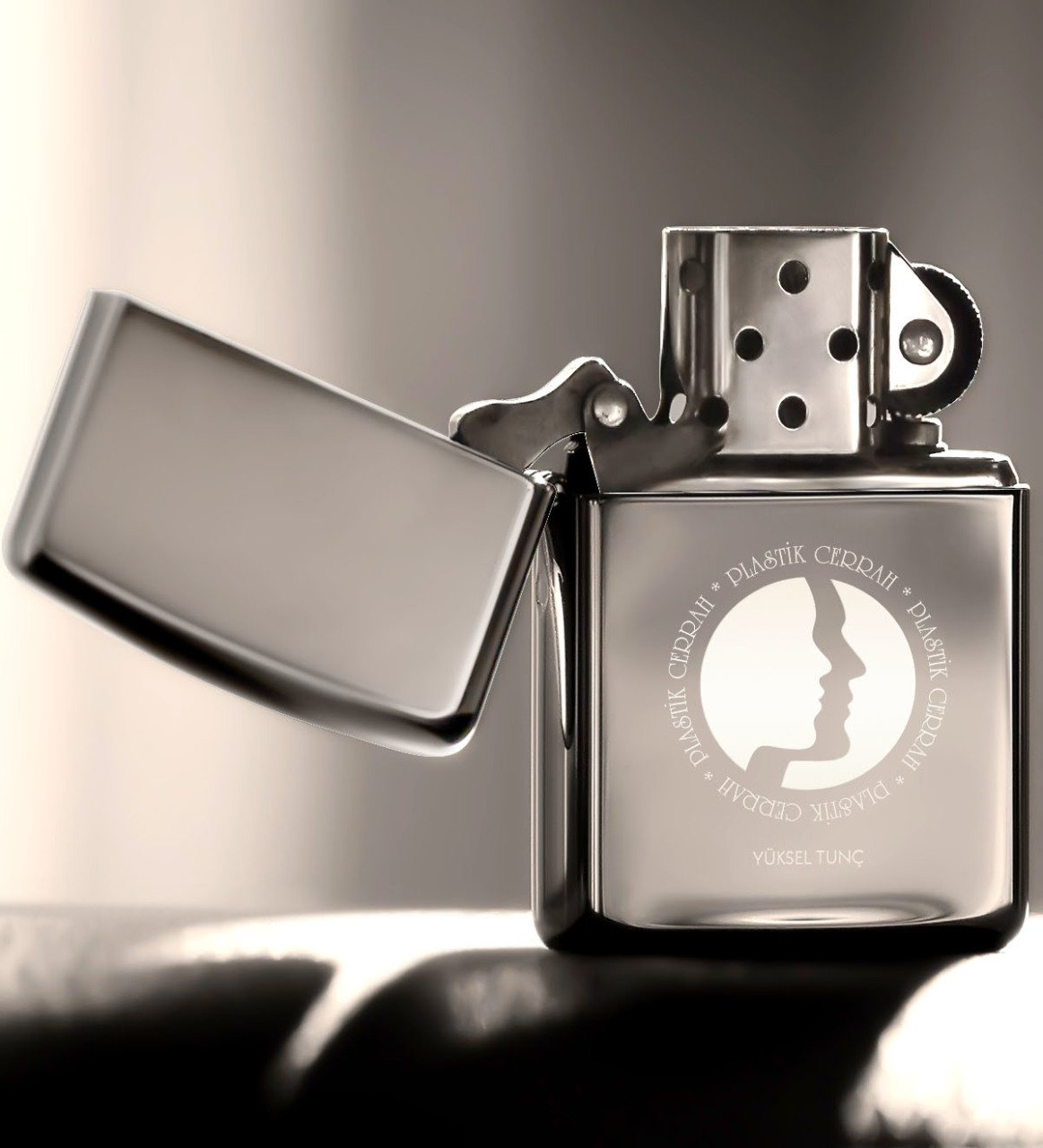 Personalized Plastic Surgeon Gasoline Silver Gray Metal Lighter-1 image