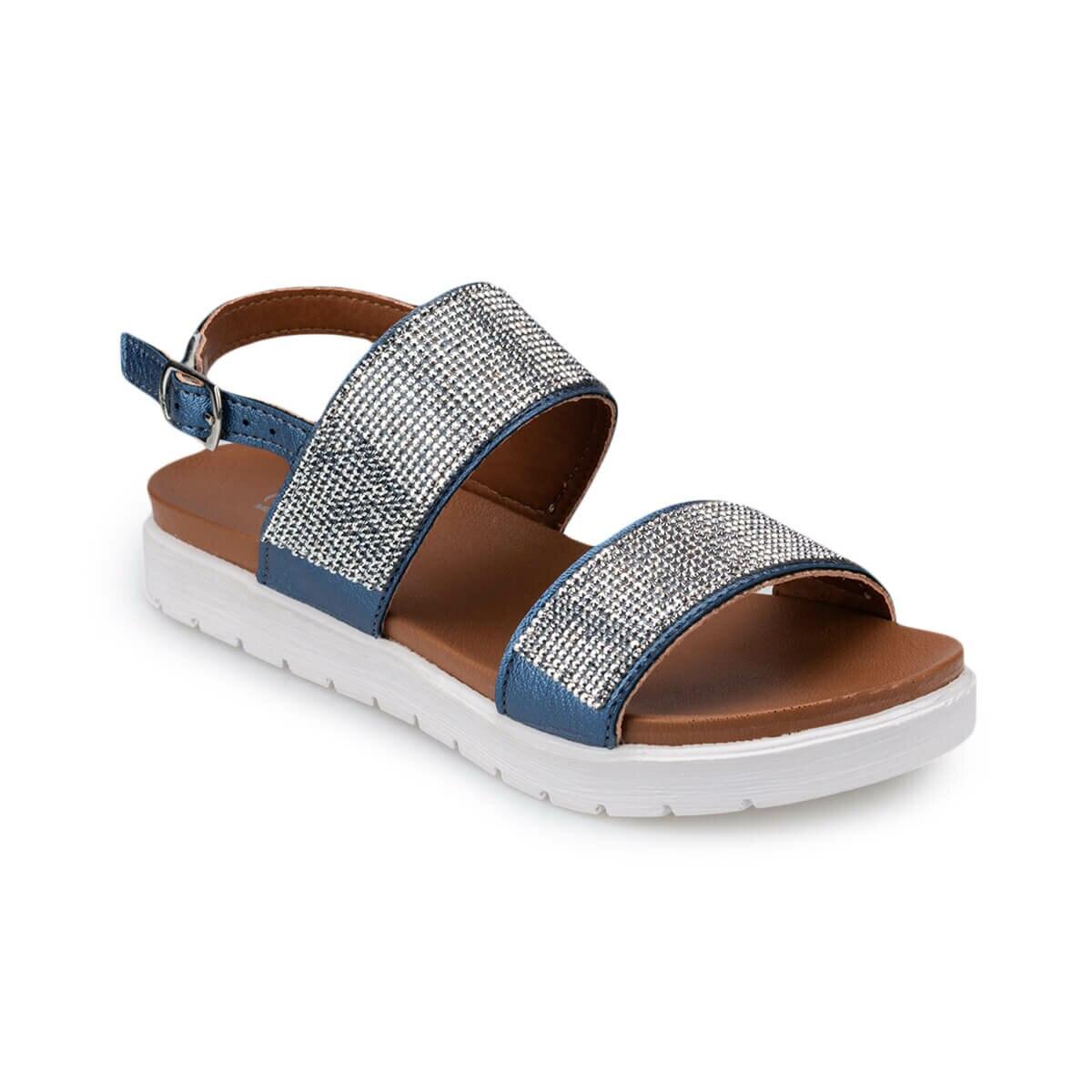 FLO 91.510035.F Navy Blue Female Child Sandals Polaris