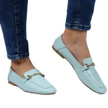 Genuine Leather Loafers women flat shoes ladies shoes women Slip-on casual walking shoes genuine leather metal buckle