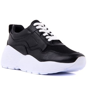 Image 2 - Sail Lakers Genuine Black Leather Womens Sneaker Casual Sports Shoes Fashion Dad Shoes Platform Sneakers Femme Krasovki