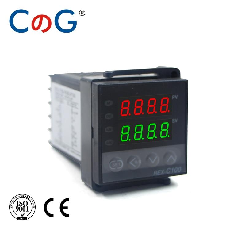 CG REX 48*48mm 600 800 Degree Input K J PT100 0-10V 4-20mA PID Output SSR Relay 220V 24V 380V Thermostat Temperature Controller