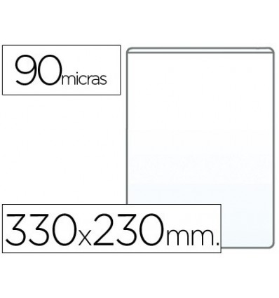 COVER PORTADOCUMENTO FOLIO 90 MICRON PVC TRANSPARENT 100 Units Binder Index Dividers     - title=