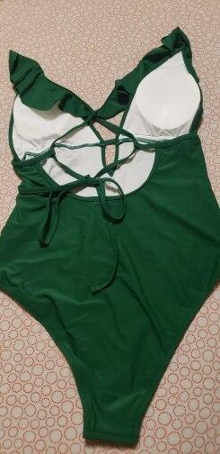 CUPSHE Burgundy Heart Attack Falbala One piece Swimsuit Women Ruffle V neck Monokini 2021 New Girls Beach Bathing Suit Swimwear|Body Suits|   - AliExpress