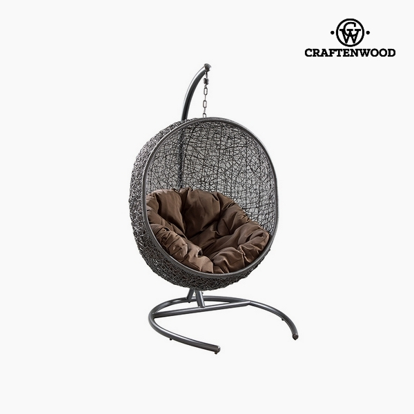 Hanging Basket Seat (176 Cm) Synthetic Rattan Black