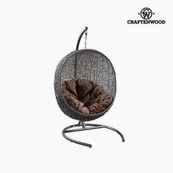 Wiszący kosz siedzenia (176 cm) syntetyczny rattan czarny w Krzesła do salonu od Meble na