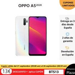 OPPO A5 2020 3 Гб/64 ГБ, смартфон, 6,5 дюймHD экран, 4 задние камеры, 5000 мАч, две sim-карты, Реверсивный заряд, 2 года гарантии