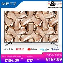 La televisión de 32 pulgadas SMART TV METZ 32MTB7000 ANDROID TV 9,0 sin marco Asistente de Google CONTROL remoto por voz-2 año de garantía
