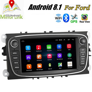 2din Android 8.1 GPS Auto Car Radio 2 Din Car Multimedia player 7'' autoradio For Ford/Focus/S-Max/Mondeo 9/GalaxyC-Max image
