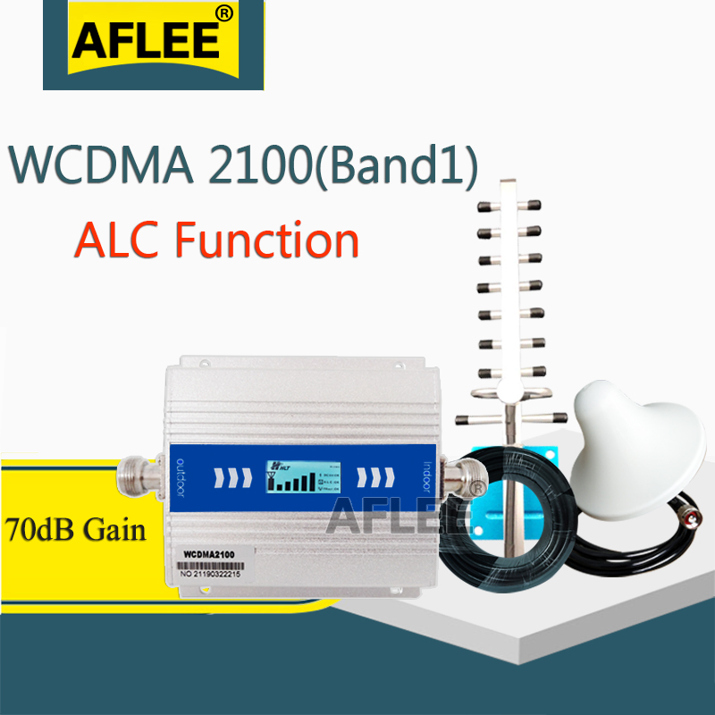 2020 New Upgrade!! WCDMA 2100 3G Cellular Amplifier 2100Mhz ALC GSM Repeater 2G 3G 4G Mobile Signal Booster 70dB UMTS WCDMA Set