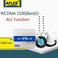 2020 nova atualização! Wcdma 2100 3g amplificador celular 2100 mhz alc gsm repetidor 2g 3g 4g impulsionador de sinal móvel 70db umts wcdma conjunto
