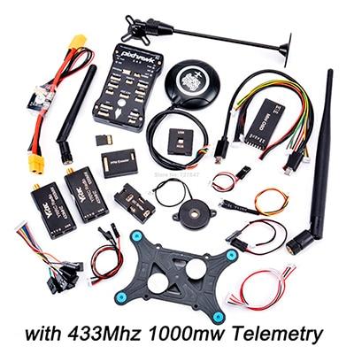 Pixhawk px4 PIX 2.4.8 32 бит Игровые Джойстики+ 433/915 телеметрии+ m8n GPS+ minim OSD+ pm+ Детская безопасность выключатель+ зуммер+ RGB+ стр./мин+ I2C+ 16 г SD - Цвет: 433 1000mw Telemetry