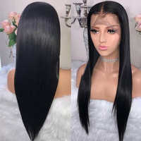 Beaudiva Lace front perruques de cheveux humains avec des cheveux de bébé pré plumé délié brésilien droite perruques de cheveux humains pour les femmes noires