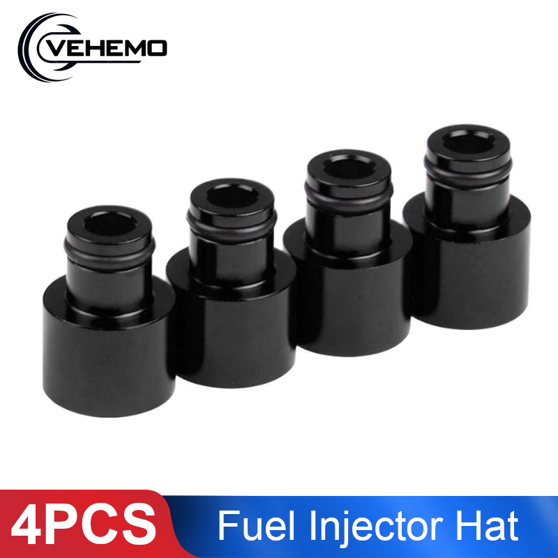 4pcs Fuel Injector Hat Fuel Nozzle Modified Auto Parts Nozzle Adapter Dedicated Fuel Flow Injector Adapter Fuel Injector