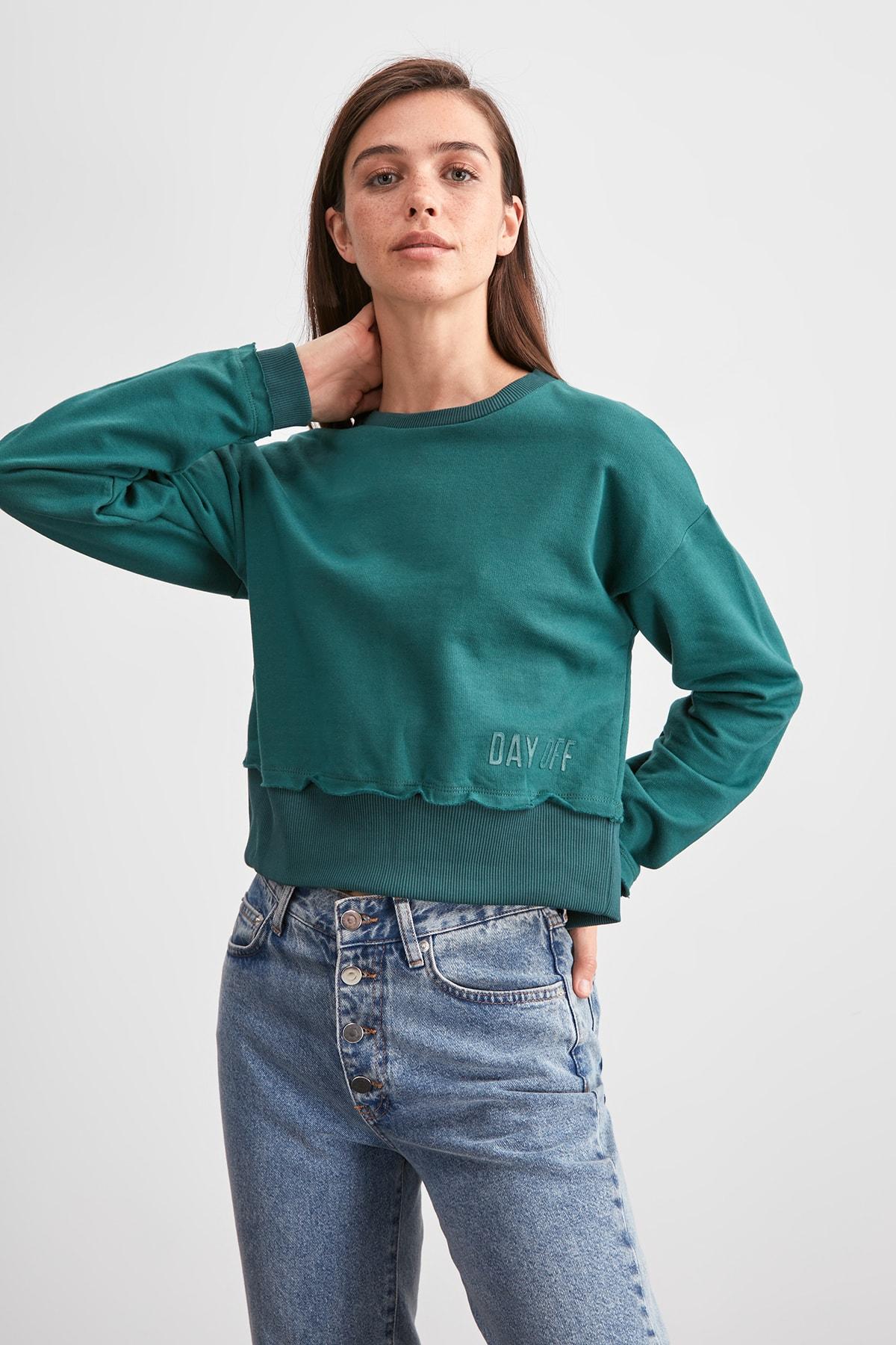 Trendyol Crop Knitted Sweatshirt TWOAW20SW0781