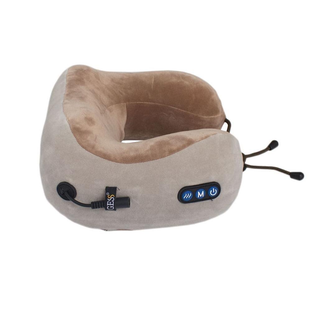 Massager, massage pillow uTravel gray, travel pillow, gift, U-shaped neck pillows, GESS-136 gray 3pcs mini u shaped sewing scissors thread cutter