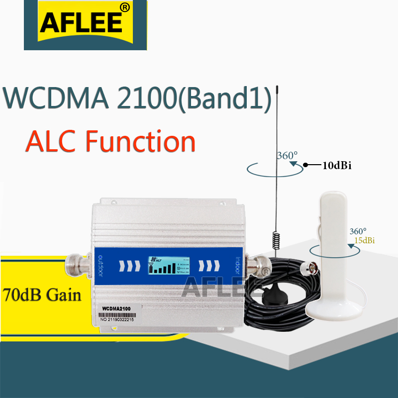Big Sale!! ALC 2100Mhz 3g Cellular Amplifier WCDMA 3G 2100Mhz GSM Repeater 2G 3G 4G Data Mobile Signal Booster 70dB UMTS LTE Set