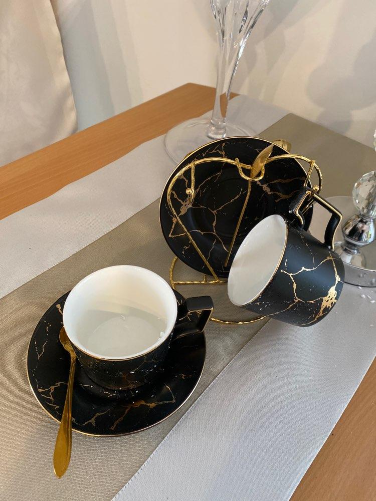 Halvard Ceramic Marble Coffee Tea Cup Set photo review