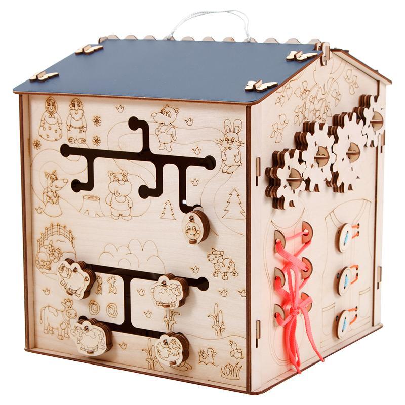 Conseil occupé pour les enfants apprenant busybox en bois busyboard montessori puzzles jouets éducatifs - 2