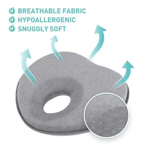 Image 5 - 3D Memory Foam Baby Pillows Breathable Baby Shaping Pillows To Prevent Flat Head Ergonomic Newborns Pillow Almofada Infantil