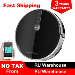 LIECTROUX Robot-Vacuum-Cleaner Navigation Water-Tank C30B Smartest 4000pa with Memory-Wifi