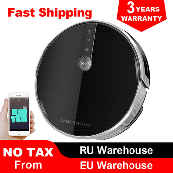 2020 Smartest LIECTROUX Robot Vacuum Cleaner C30B, 4000Pa Suction, Map navigation with Memory,Wifi APP, Big Electric Water tank