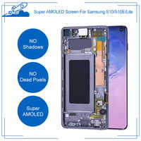 100% Ori AMOLED Display for Samsung Galaxy S10 S10e Plus Super AMOLED Display Touch Screen Digitizer Assembly With Touch ID Part