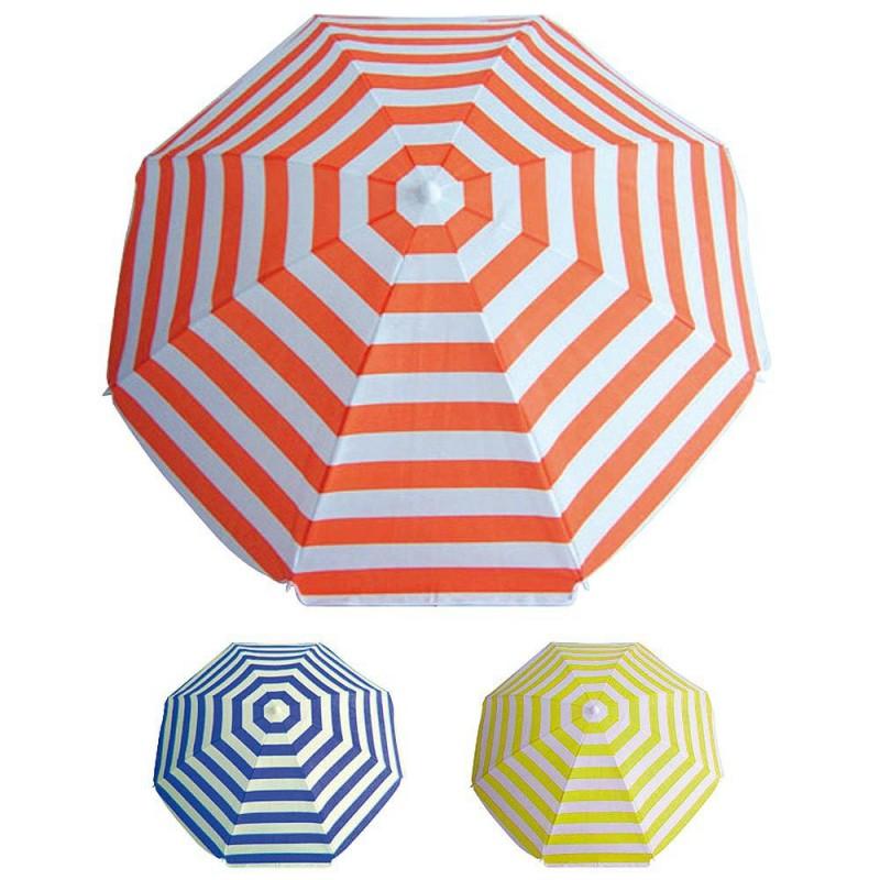 Beach Umbrella 180 Cm Polyester. Stripes