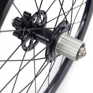 "Image 5 - Silverock alaşım jantlar 16 ""1 3/8"" 349 disk fren 24H Fnhon misafir katlanır bisiklet özel bisiklet tekerlek bisiklet parçaları"