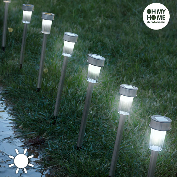 Oh My Home Torch Garden Solar Lights (pack Of 7)