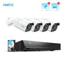 Reolink – système de caméra de sécurité 4k, enregistrement PoE 24/7, 2 to HDD, détection de personne/véhicule, 8MP