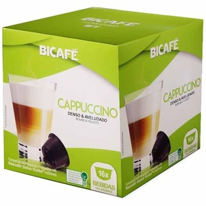 CAPPUCCINO, 16 BICAFÉ capsules compatible Dolce Gusto