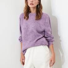 Trendyol lilás bicicleta colar suéter twoaw20fv0142