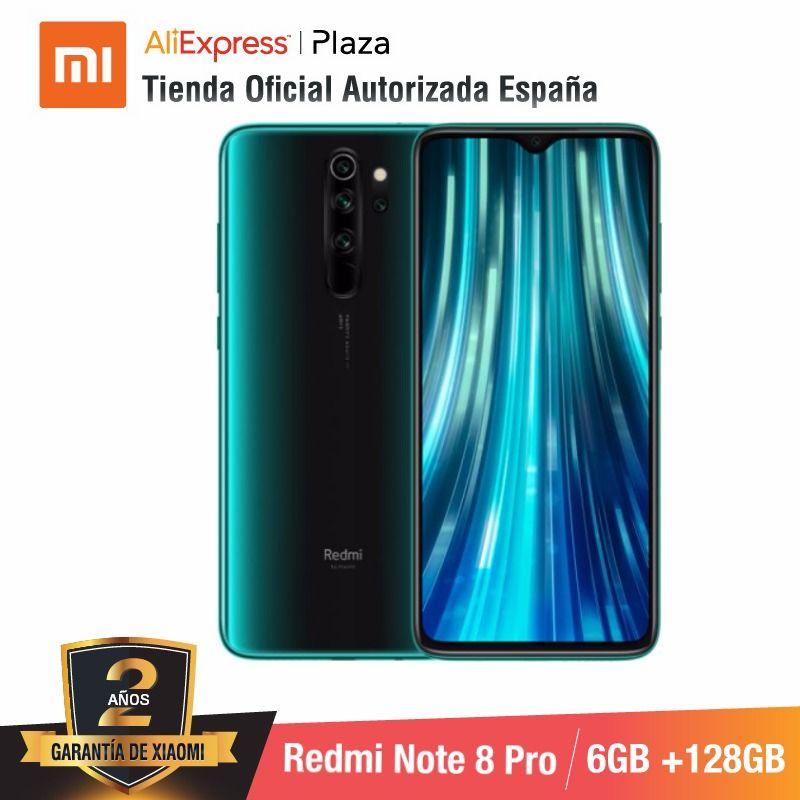 Redmi Note 8 Pro (128GB ROM con 6GB RAM, C�mara de 64 MP, Android, Nuevo, M�vil) [Tel�fono M�vil Versi�n Global para Espa�a]